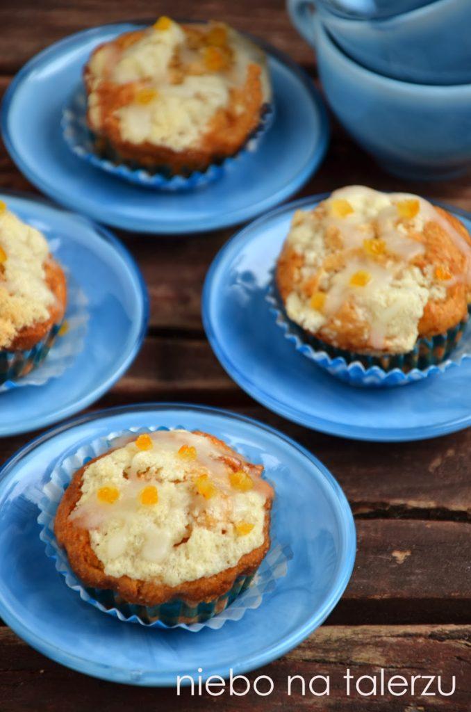 Bardzo dobre muffiny zjabłkami