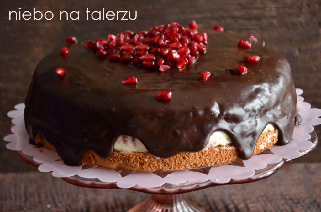 kokosowy tort zczekoladą