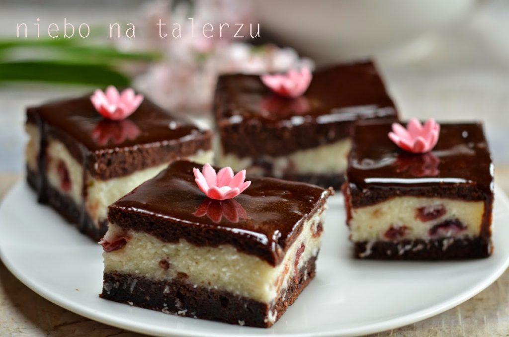 kokosowe ciasto zczekoladą