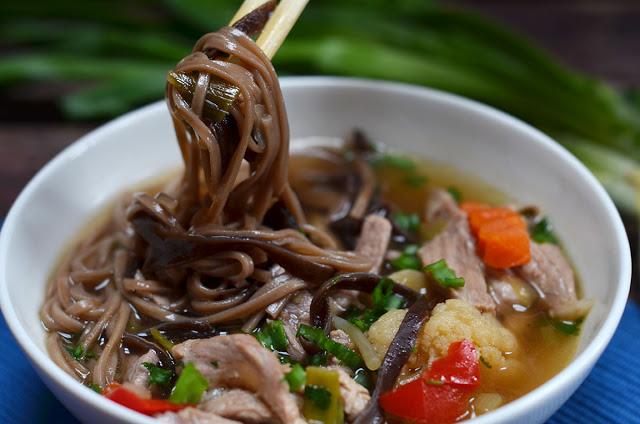 zupa zgrzybami mun imakaronem