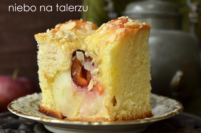 ciasto drożdżowe zjabłkami iśliwkami