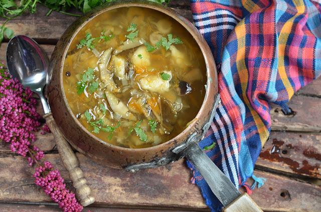 zupa ześwieżych grzybów