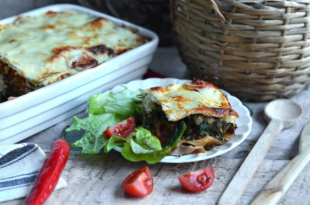 lasagne zeszpinakiem