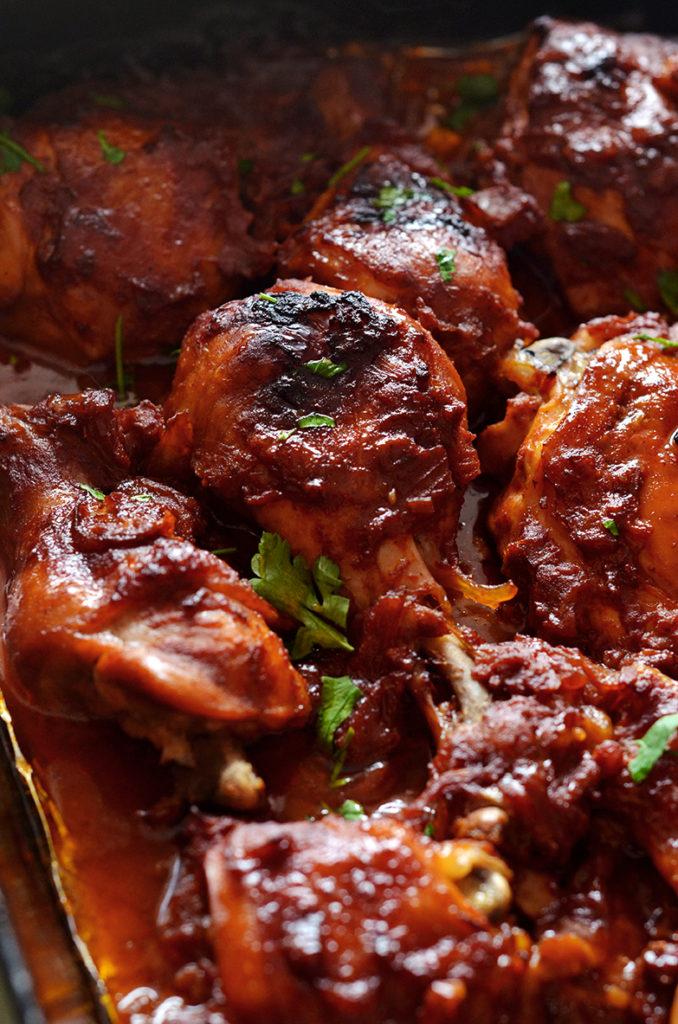 kurczak pieczony wsosie barbecue