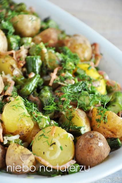 Sałatka zmłodych ziemniaków