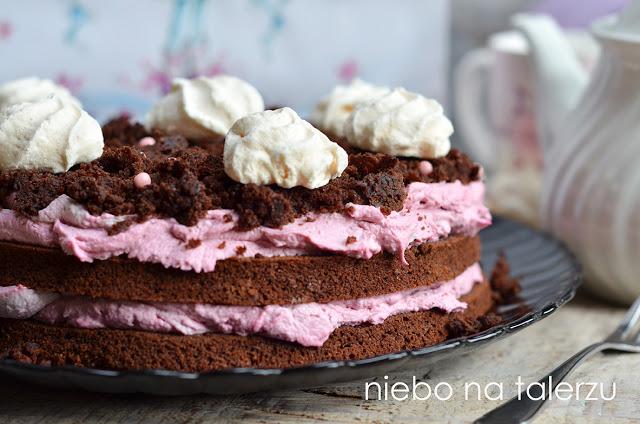czekoladowe ciasto zkremem