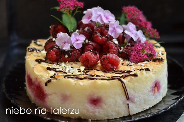 ciasto zryżu zmalinami