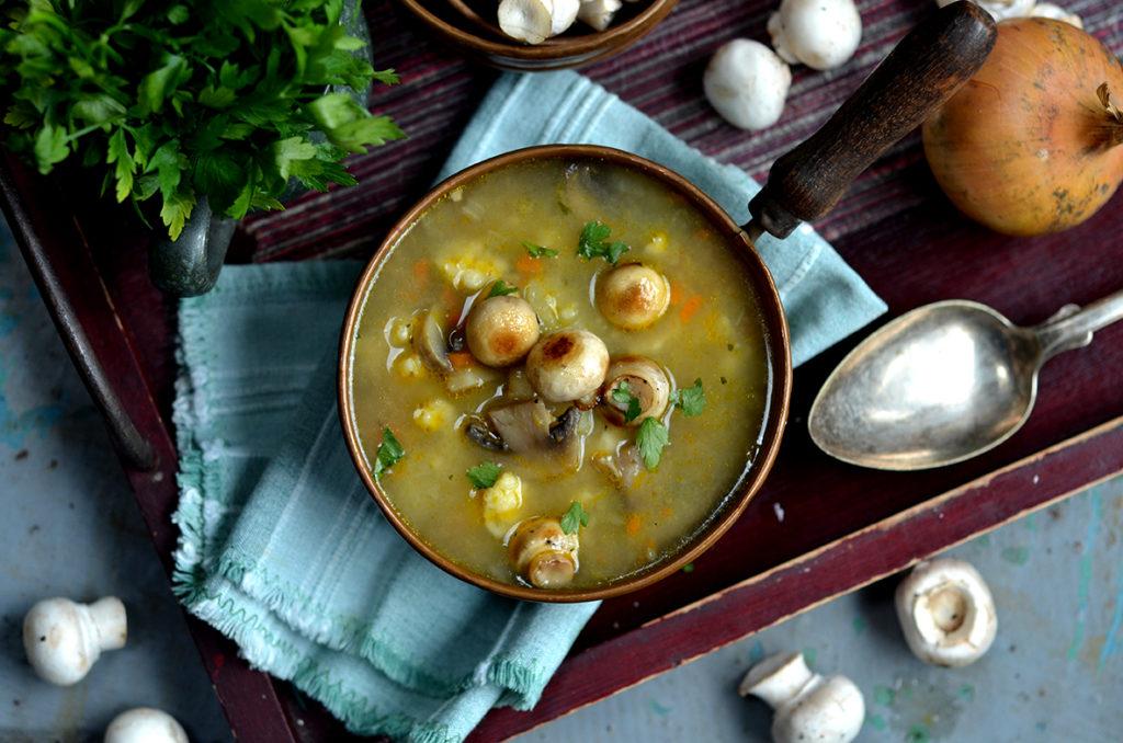 zimowa zupa pieczarkowa