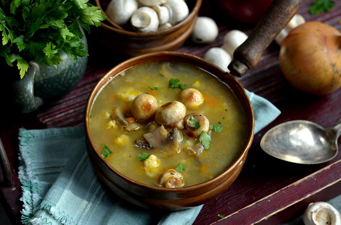 bardzo dobra zupa pieczarkowa