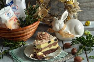 sernik z czekoladą i ciasteczkami