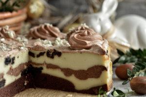 sernik waniliowy z czekoladą