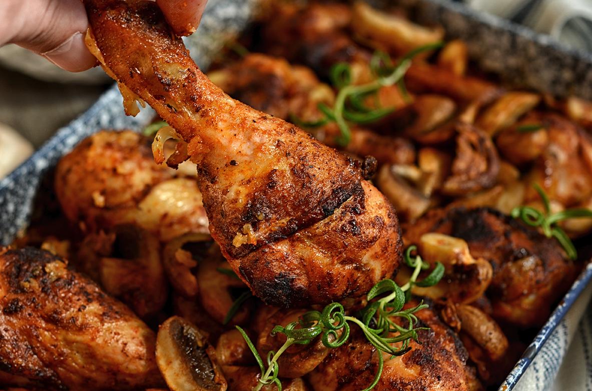 kurczak pieczony na ryżu