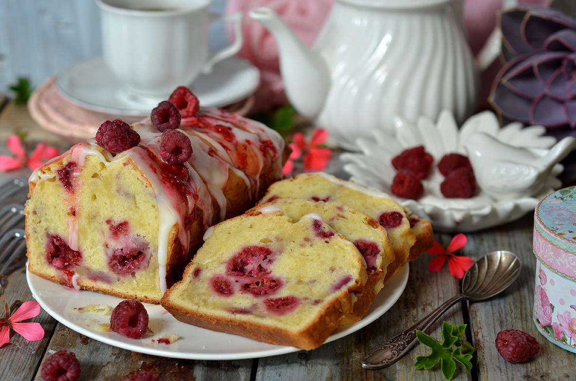 łatwe ciasto z malinami