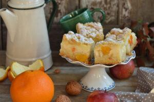ciasto z jabłkami i pomarańczą
