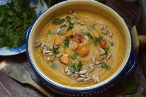 dobra zupa krem z dyni i soczewicy
