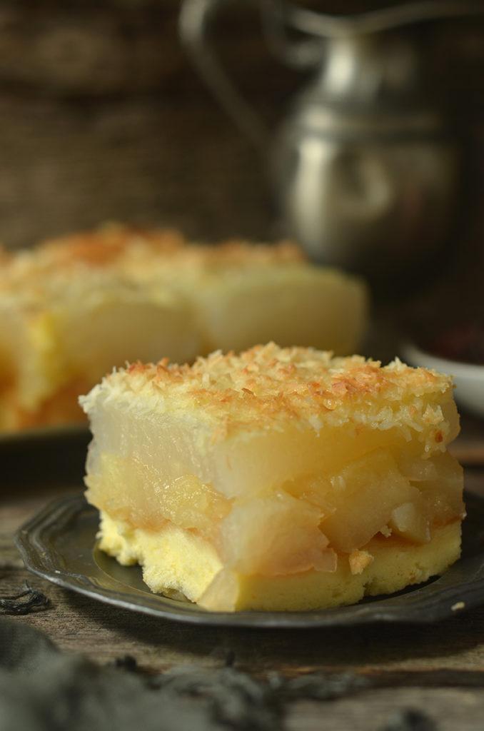 ciasto zjabłkami podkokosową skorupką