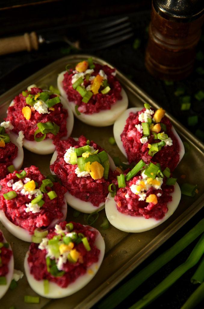 jajka faszerowane zburaczkami ichrzanem
