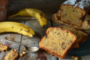 proste ciasto marchewkowe z bananami