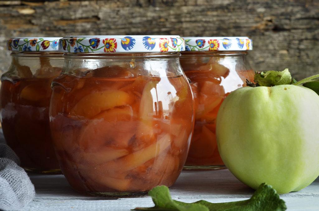 jabłka wsłoikach 3x5 minut