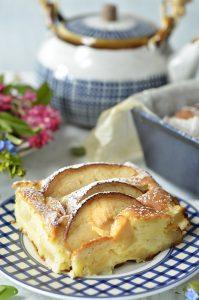 ciasto serowe z jabłkami