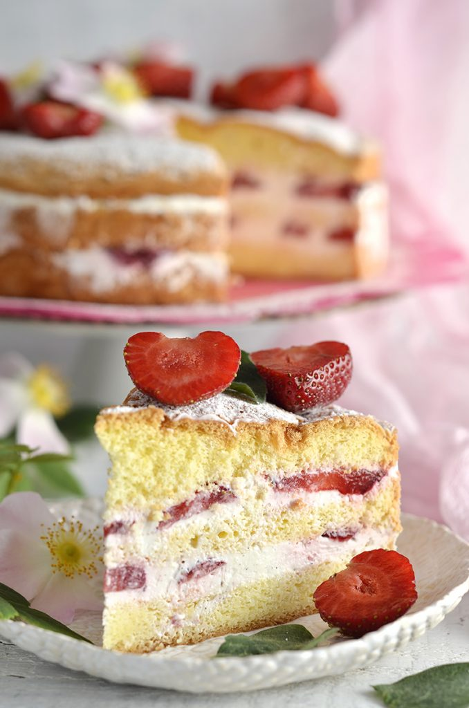 ciasto ztruskawami ikremem